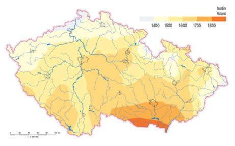 Délka slunečního svitu v ČR
